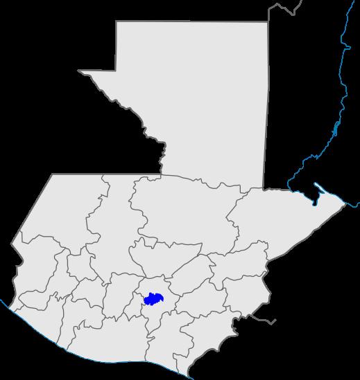 mapa distrito 1, Iglesia de Dios, Guatemala