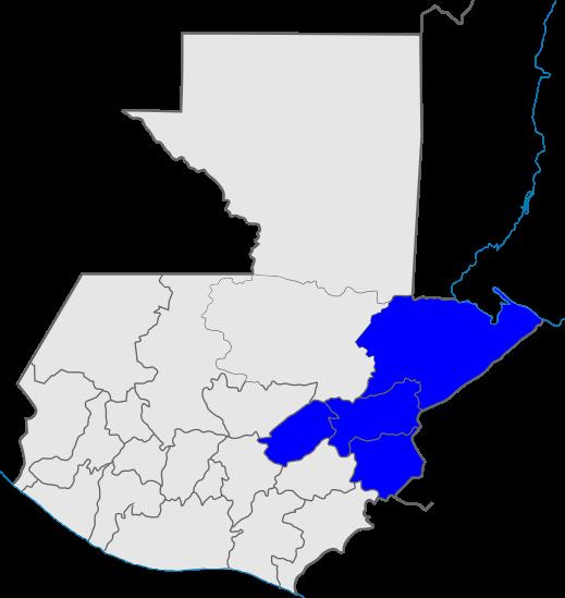 mapa distrito 3, Iglesia de Dios, Guatemala