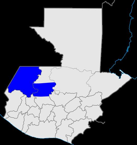 mapa distrito 5, Iglesia de Dios, Guatemala