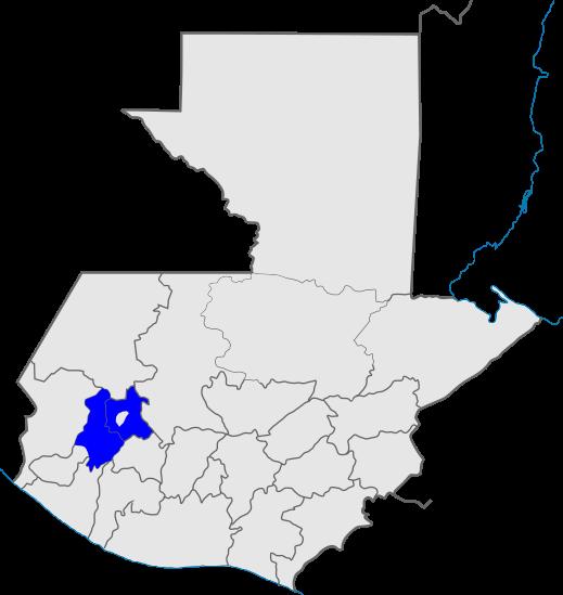 mapa distrito 6, Iglesia de Dios, Guatemala