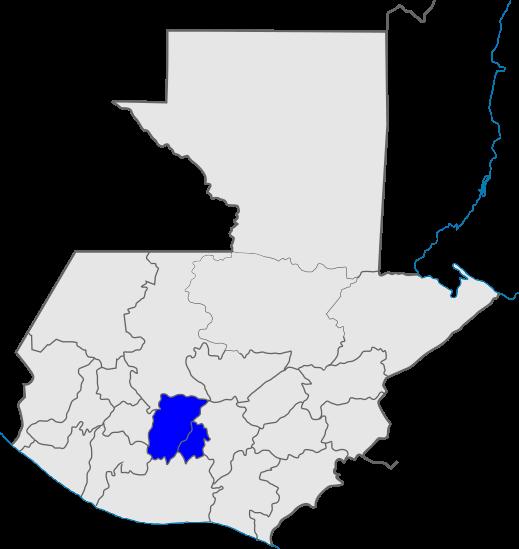 mapa distrito 7, Iglesia de Dios, Guatemala