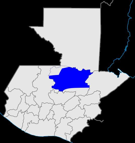 mapa distrito 13, Iglesia de Dios, Guatemala