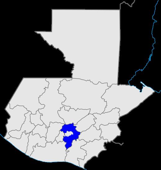 mapa distrito 14, Iglesia de Dios, Guatemala